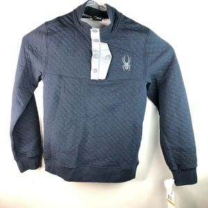 Spyder Frontier Quilted Button Sweater Men's S NWT